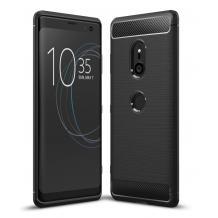 Силиконов калъф / гръб / TPU за Sony Xperia XZ3 - черен / carbon