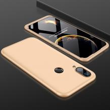 Твърд гръб Magic Skin 360° FULL за Huawei Y7 2019 - златист