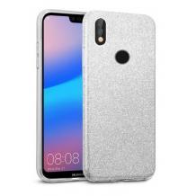 Силиконов калъф / гръб / TPU за Huawei P40 lite E - сребрист / брокат