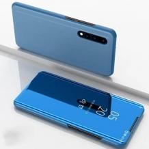 Луксозен калъф Clear View Cover с твърд гръб за Xiaomi Mi A3 - син