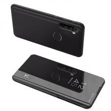 Луксозен калъф Clear View Cover с твърд гръб за Xiaomi Redmi Note 8 - черен