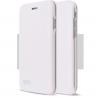 Луксозен кожен калъф Flip тефтер със стойка OPEN за Apple iPhone XS Max  - бял  гланц